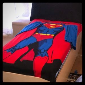 Other - Twin Size Superman Blanket w/ Sleeves